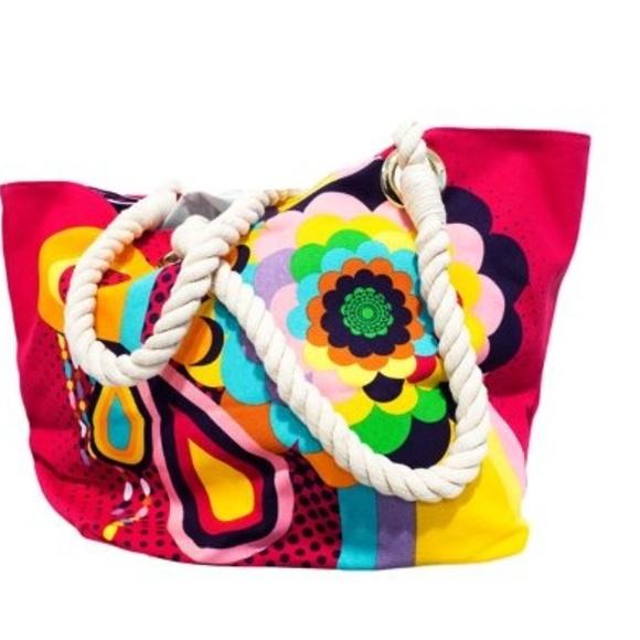 Amika Handbags - AMIKA PINK ROPE BAG
